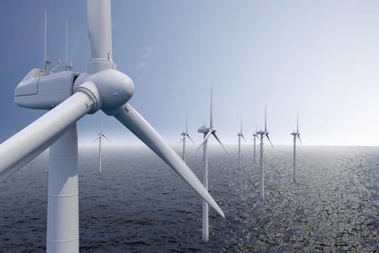 Stromgewinnung auf dem Meer