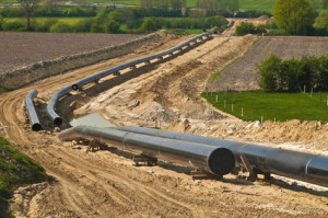 Pipeline Konstruktion zum Gas-Transport